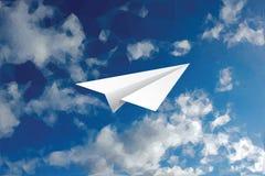 Plane cloudy triangle Stock Photo