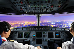 Plane cockpit Royalty Free Stock Photos