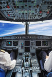 Plane cockpit Royalty Free Stock Photo