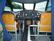 Plane cockpit replica. Cockpit of the flying boat museum at Foynes, Ireland. the exact replica of the cockpit of the Boeing 314 flying boat. amazing flying boat Royalty Free Stock Photos
