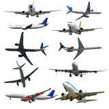 Plane collection isolated on a white background. High resolution Stock Photo