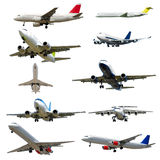 Plane collection isolated on a white background. High resolution Royalty Free Stock Photography