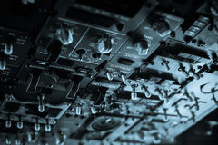 Plane control panel Stock Images