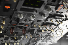 Plane control panel Royalty Free Stock Images