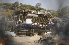 Plane Crash. Crash site of a commercial jet Royalty Free Stock Images