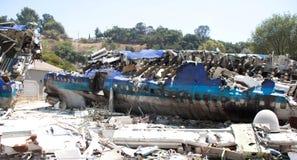 Plane crash Royalty Free Stock Image