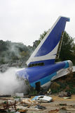 Plane Crash. Set at the Universal Studios backlot tour Stock Photos