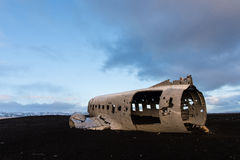 Plane crash in iceland Stock Photography
