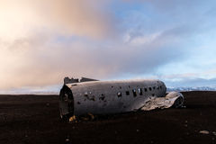 Plane crash in iceland Royalty Free Stock Photography