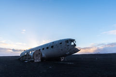 Plane crash in iceland. This is a photo of plane crash in iceland Stock Photos