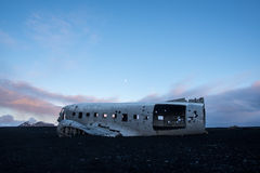 Plane crash in iceland Royalty Free Stock Photos
