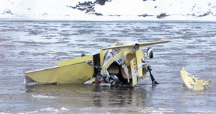 Plane crash. stock footage