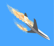 Plane crash, Plane Accident, aircraft bombing, plane crashes, te Royalty Free Stock Photo