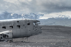 Plane Crash Ruins, Sólheimasandur - Iceland Stock Photos