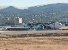 Plane Crash SFO Royalty Free Stock Image