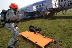 Plane crash simulation Royalty Free Stock Images