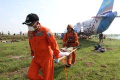 Plane crash simulation Royalty Free Stock Image