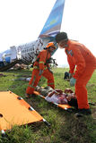 Plane crash simulation Stock Photos