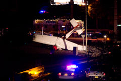 Plane Crash in Tallahassee, FL. Photo of a small plane which crashed in Tallahassee, FL on the night of February 8th, 2008.  Remarkably, the pilot suffered only Stock Photo