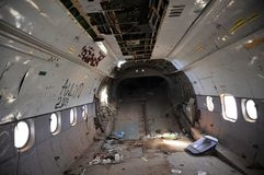 The plane crashed at the airport of the Berbera Royalty Free Stock Photos