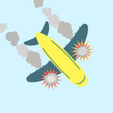 Plane crashing Stock Photography