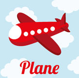 Plane cute design Stock Photos
