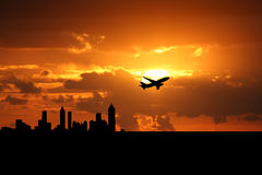 Plane departing Atlanta Royalty Free Stock Photo