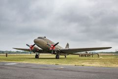 Free Plane Douglas C-47 Skytrain, DC-3 United States Army Air Force, L4, Dakota Royal Air Force, R-40 US Navy, Landing In Normandy Royalty Free Stock Image - 149884296