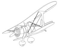 Free Plane Drawing Stock Images - 41325884