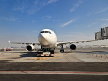 Plane at Dubai airport Royalty Free Stock Images