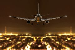 Free Plane During Descent Stock Images - 168624084
