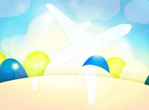 Plane Easter Eggs Royalty Free Stock Image