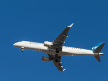 Plane EMBRAER ERJ-190LR, Montenegro Airlines Royalty Free Stock Photo