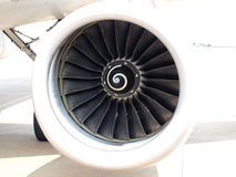 Plane engine. Close up of the engine of the plane Royalty Free Stock Images