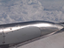 Plane engine. Top cover from a jet engine Stock Images