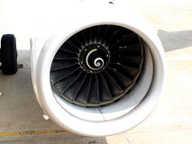 Plane engine. Close up of the engine of the plane Royalty Free Stock Image