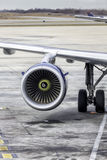 Plane engine Stock Photography