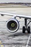 Plane engine stock photography