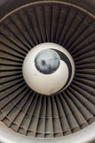 Plane engine. Royalty Free Stock Photography