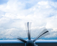 Plane engine with propeller Stock Image