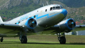 Plane engine start stock footage