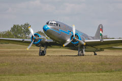 Plane engine start Royalty Free Stock Images