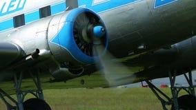 Plane engine start stock video