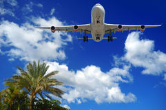 Plane at exotic destination Royalty Free Stock Photos