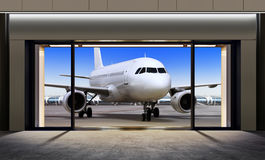 Plane expects tourists at airport Stock Photography