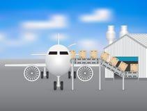 Plane factory Stock Photos