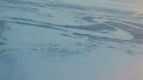 Plane Flies above Vast Expanses of Arctic stock video