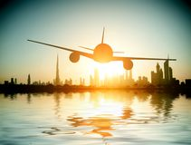 Plane flies Royalty Free Stock Photo