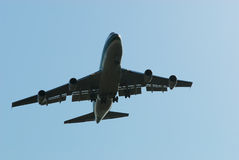 The plane flies up Stock Photography