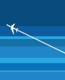 A plane in flight. Vector image of a plane in the sky Stock Images